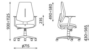 Krzesło biurowe pracownicze obrotowe Gem TS06