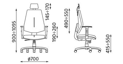 Krzesło biurowe pracownicze obrotowe Gem HRU R26S ST04 Nowy Styl
