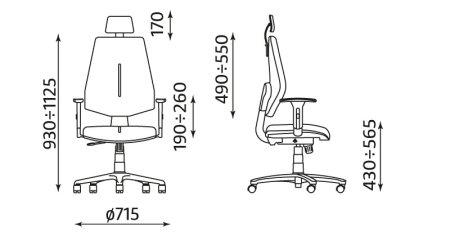 Krzesło biurowe pracownicze obrotowe Gem HRU R26S TS06