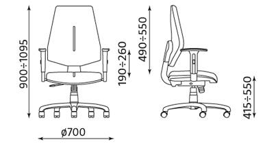 Krzesło biurowe pracownicze obrotowe Gem R26S ST04 Nowy Styl