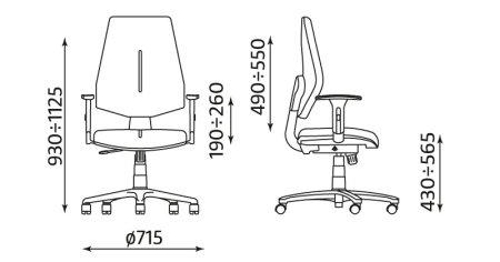 Krzesło biurowe pracownicze obrotowe Gem R26S TS06