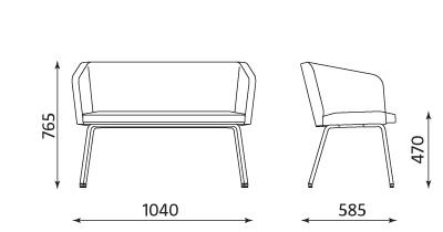 Sofa dwuosobowa Hello! 4L Duo firmy Nowy Styl
