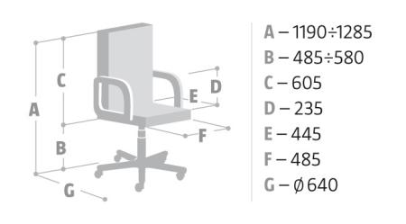 Wymiary krzesła Hit Nowy Styl