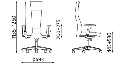 Fotel gabinetowy Invitus ST44-POL Nowy Styl