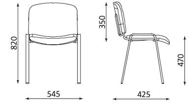Wymiary krzesła ISO 4L-BL Nowy Styl