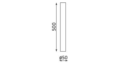 Wymiary podstawy stołu Kaja 500 Table Nowy Styl