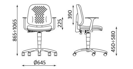 Wymiary krzesła Labo GTP46 TS02 firmy Nowy Styl