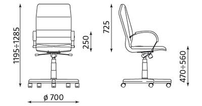 Fotel gabinetowy Linea ST04-POL Nowy Styl