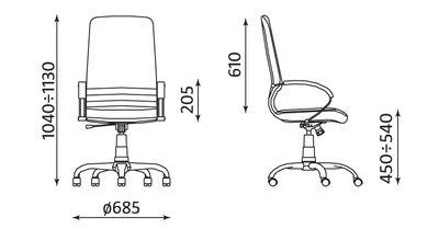 Wymiary fotela Mirage ST02-CR Nowy Styl