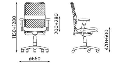 Krzesło biurowe pracownicze obrotowe Montana HB ST11-POL ESP