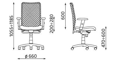 Krzesło biurowe pracownicze obrotowe Montana R15G ST11-POL