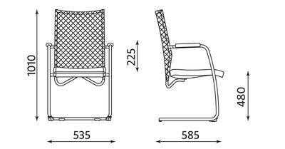 Krzesło biurowe do poczekalni @-Motion cfp lux chrome firmy Nowy Styl