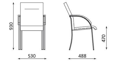 Fotel biurowy do sali konferencyjnej Neo Lux 4L ARM Nowy Styl