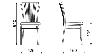 Wymiary krzesła Neron Nowy Styl