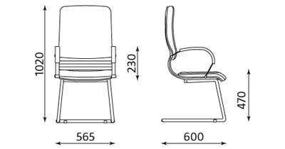 Fotel biurowy do sali konferencyjnej NOVA wood steel CF LB firmy Nowy Styl