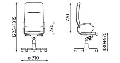 Fotel gabinetowy NOVA wood z mechanizmem Multiblock firmy Nowy Styl