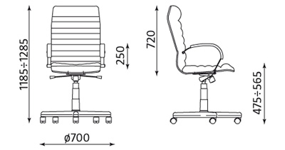 Fotel biurowy obrotowy gabinetowy Orion ST04 Nowy Styl