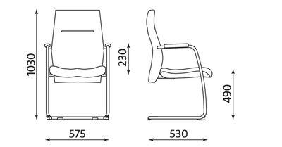 Krzesło biurowe do poczekalni ORLANDO lux steel cfp chrome firmy Nowy Styl