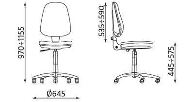 Krzesło pracownicze Prestige Profil GTS firmy Nowy Styl