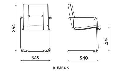 Wymiary krzesła Rumba S Nowy Styl