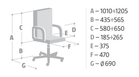 Wymiary krzesła Saya Nowy Styl