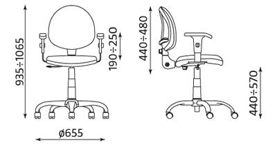 Krzesło pracownicze Smart R3K2-NS ST01-CR Nowy Styl