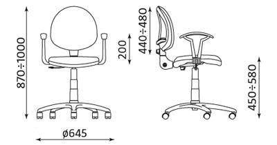 Krzesło pracownicze Smart White GTP27 ts02 CPT firmy Nowy Styl