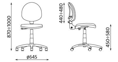 Krzesło pracownicze Smart White TS02-K32 RTS Nowy Styl