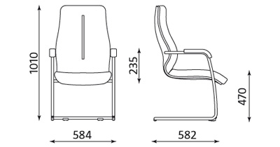 Fotel biurowy do sali konferencyjnej Sonata Lux LB CFP Nowy Styl