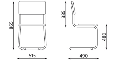 Wymiary krzesła Sylwia S Nowy Styl