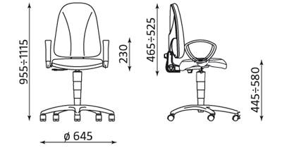 Krzesło pracownicze Webst@r TS02 GTP2 Nowy Styl