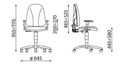 Krzesło pracownicze Webst@r TS02 R1E Nowy Styl