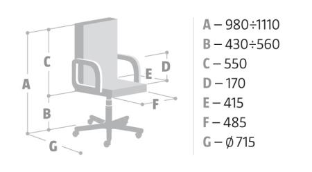Wymiary krzesła Zoom Nowy Styl