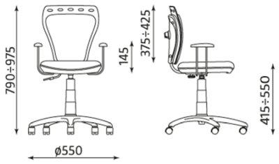Wymiary krzesła Ministyle Cartoons Line GTP ts22 Nowy Styl
