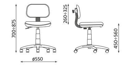 Wymiary krzesła Ministyle Cartoons Line Small ts22 Nowy Styl