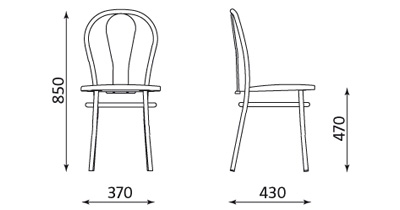 Wymiary krzesła Tulipan Plus Nowy Styl