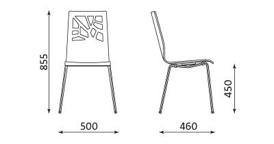 Wymiary krzesła Verbena Nowy Styl