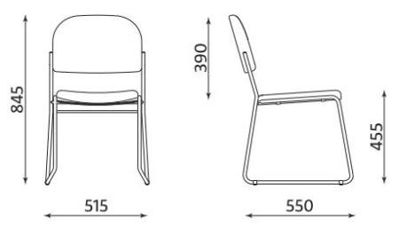 Wymiary krzesła Vesta New CFS Nowy Styl