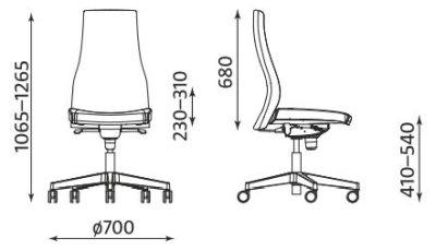 Ergonomiczne krzesło biurowe Viden Nowy Styl