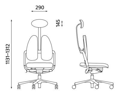 Ergonomiczne krzesło biurowe obrotowe Xenium Duo-Back HRUA Nowy Styl