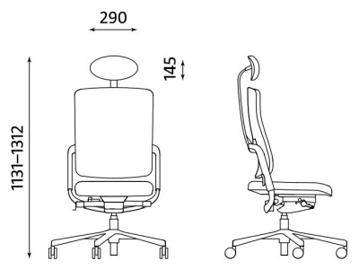 Ergonomiczne krzesło biurowe obrotowe Xenium UPH/Plastic HRUA Nowy Styl