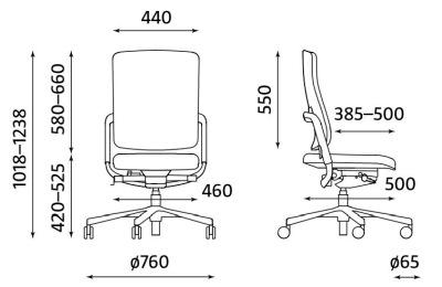 Ergonomiczne krzesło biurowe obrotowe Xenium UPH/Plastic Nowy Styl