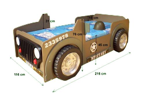 Wymiary łóżka Jeep Plastiko