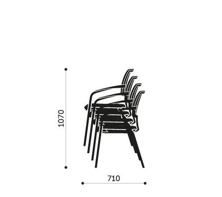 Sztaplowanie krzeseł konferencyjnych Xenon 20H Profim