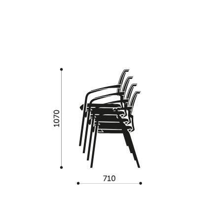 Sztaplowanie krzeseł konferencyjnych Xenon Net 20H Profim