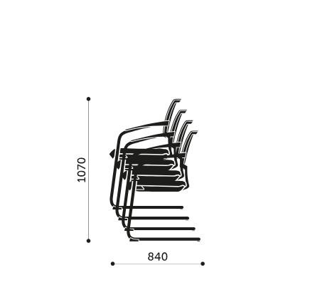 Sztaplowanie krzeseł konferencyjnych Xenon Net 20V Profim