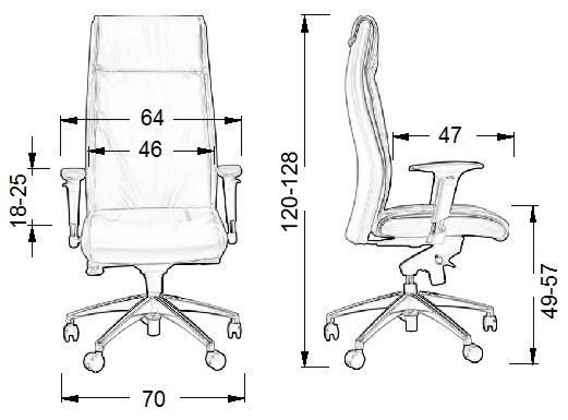 Wymiary fotela Elegant SitPlus