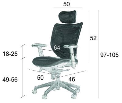 Wymiary fotela Space SitPlus