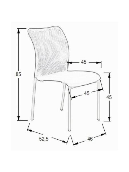 Wymiary krzesła Daisy SitPlus