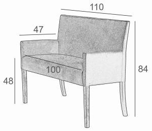 Wymiary sofa NEW-IN SitPlus